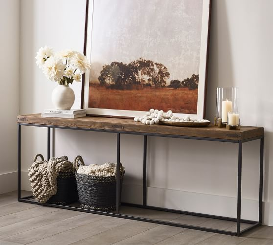Malcolm 84 Console Table Pottery Barn, Cool Sofa Tables