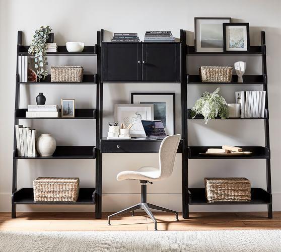 Studio 102 Wall Desk Ladder Shelf, Desk And Shelves