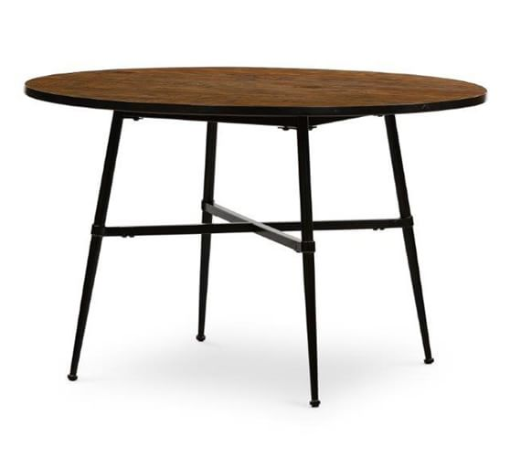 Juno Reclaimed Wood Round Dining Table, Round Reclaimed Dining Table