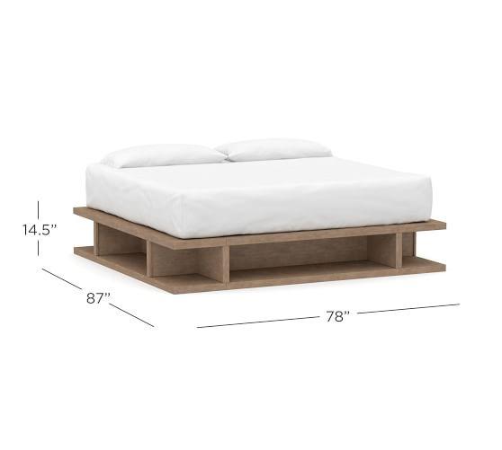 Brooklyn Storage Platform Bed Pottery, Queen Platform Bed Frame With Storage White