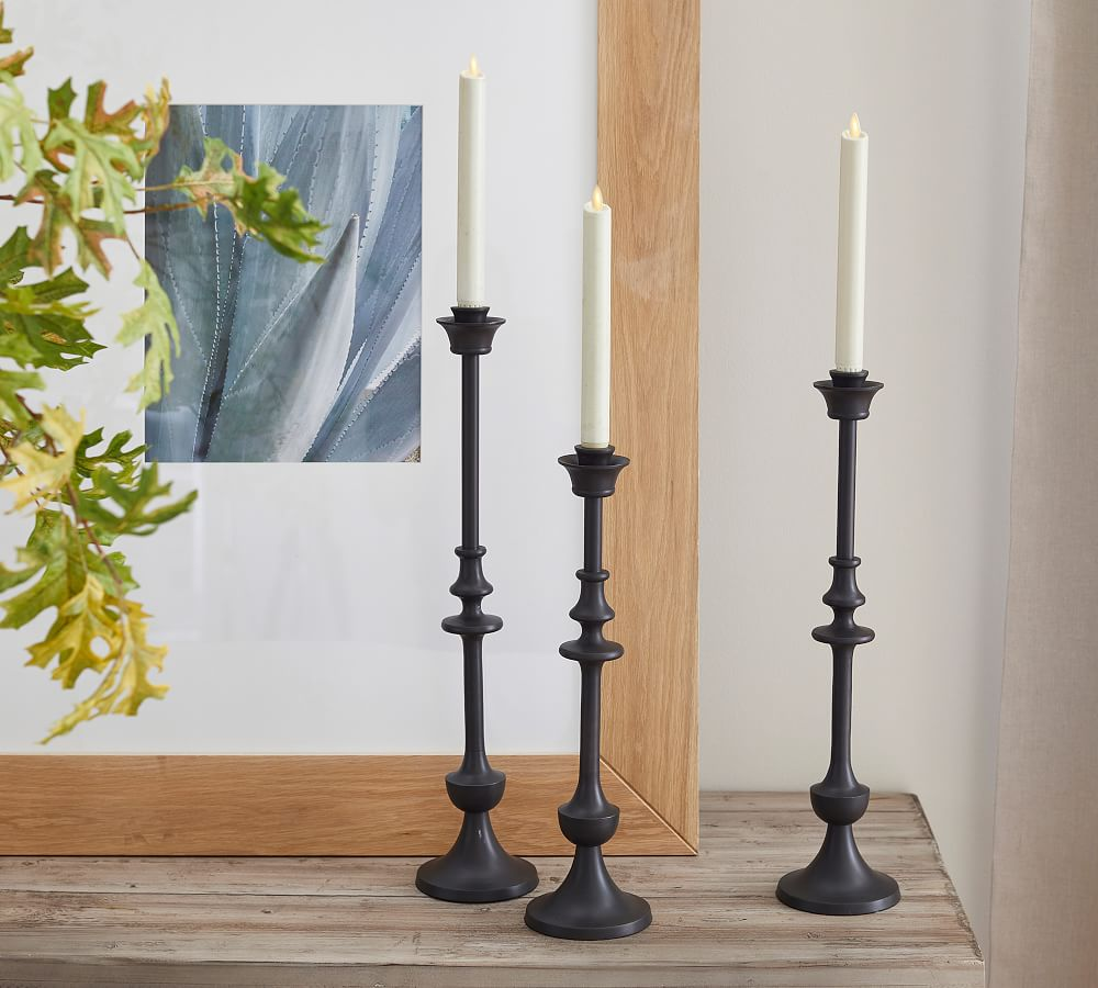 Blake Bronze Taper Candle Holders   Set Of 20   Pottery Barn