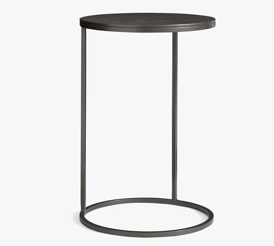 Duke 16 Round Metal C Table Pottery Barn, Round C Table