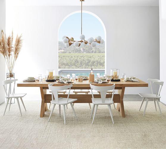 Modern Farmhouse Extending Dining Table, Modern Farmhouse Dining Room