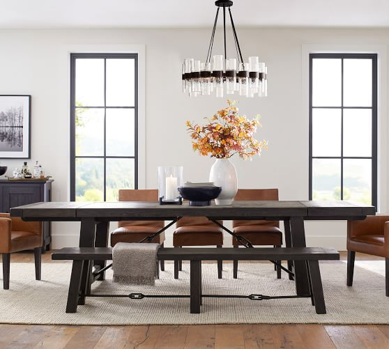 Classic Leather Dining Armchair, Black Leather Dining Room Chairs