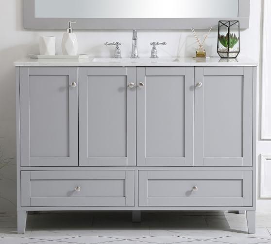 Moro 48 Single Sink Vanity Pottery Barn, 48 Single Sink Bathroom Vanity