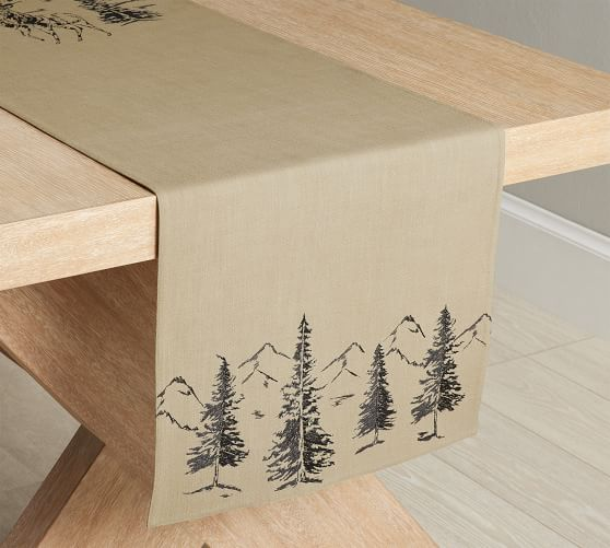 Rustic Forest Cotton Table Runner