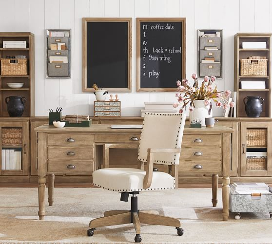 Printer S 64 Keyhole Desk With Drawers, Pottery Barn Office Furniture