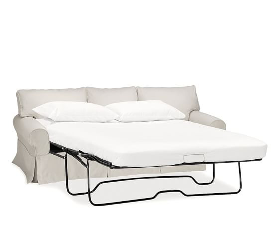 Pb Basic Slipcovered Sleeper Sofa With, Pottery Barn Sleeper Sofas