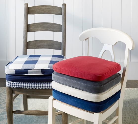 Classic Dining Chair Cushion Pottery Barn, Dining Room Seat Covers Canada
