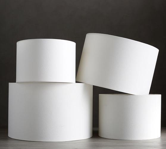 Gallery Straight Sided Lamp Shade, White Drum Lamp Shade