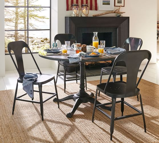 Ma Metal Dining Chair Pottery Barn, Metal Dining Room Chairs