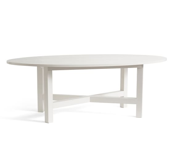 Nest Oval Dining Table Pottery Barn, White Oval Dining Room Table