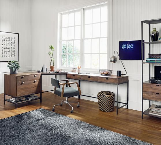 Build Your Own Graham Modular Office, Pottery Barn Office Furniture