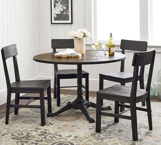 Rae Round Pedestal Bistro Dining Table, Pedestal Dining Room Table