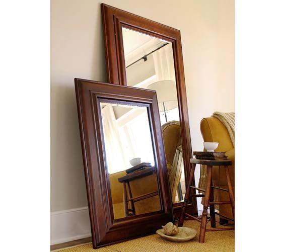 Solano Floor Mirror Pottery Barn, Pottery Barn Carved Wood Floor Mirror
