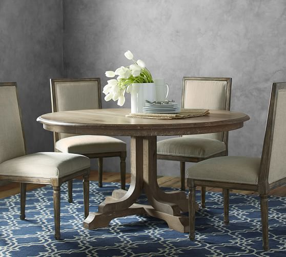 Linden Round Pedestal Dining Table, Pottery Barn Tables Round