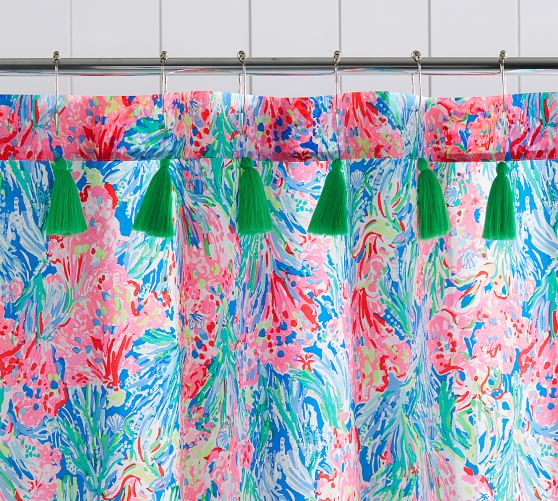 Lilly Pulitzer Fan Sea Pants Percale, Pottery Barn Lilly Pulitzer Curtains