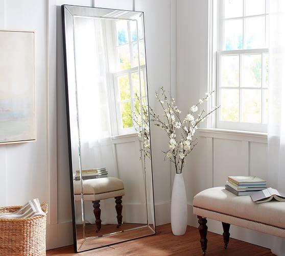 Astor Floor Standing Mirror Pottery Barn, Free Standing Leaning Mirror