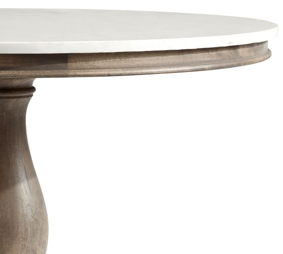 Alexandra Round Marble Pedestal Dining, Marble Round Table Top