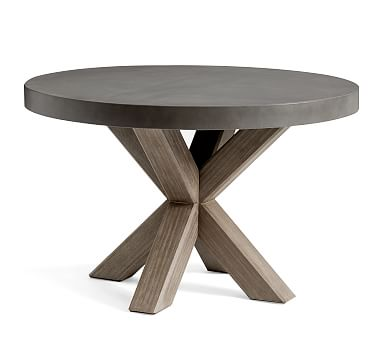 Acacia Round Dining Table Gray, Round Gray Dining Table