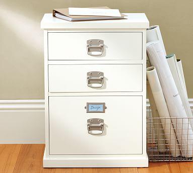 Bedford 3 Drawer Filing Cabinet, Wood File Cabinet White