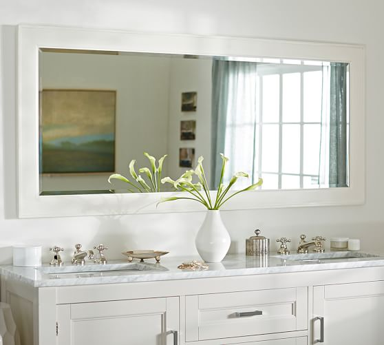 Classic Double Wide Wall Mirror, Double Wide Bathroom Mirror