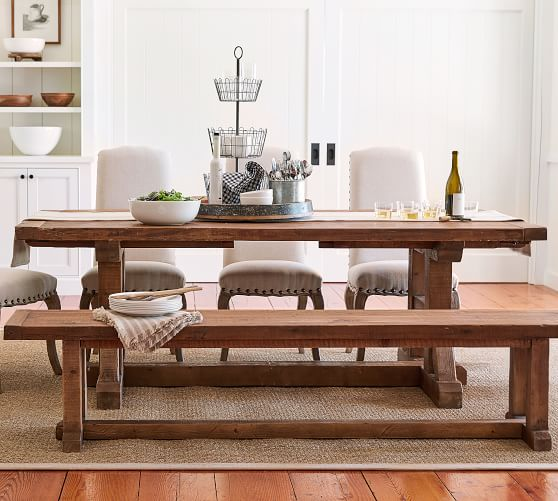 Stafford Reclaimed Wood Extending, Weathered Wood Dining Room Sets