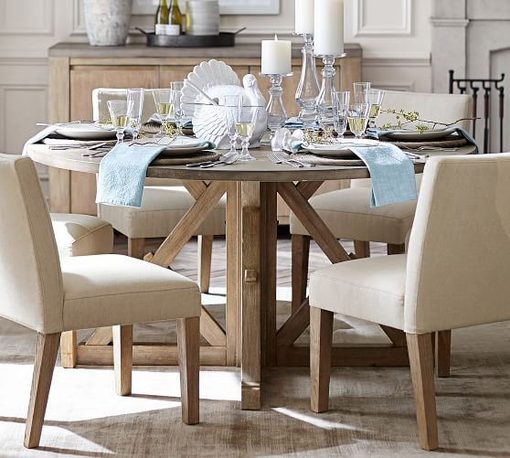 Brooks Round Pedestal Dining Table, Pottery Barn Tables Round