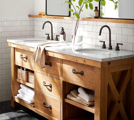 Benchwright 72 Double Sink Vanity, Pictures Of Bathroom Sinks And Vanities