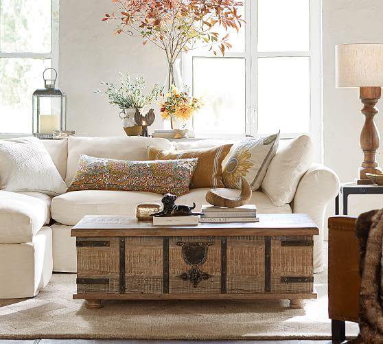 Kaplan Reclaimed Wood Lift Top Coffee, Trunk Living Room