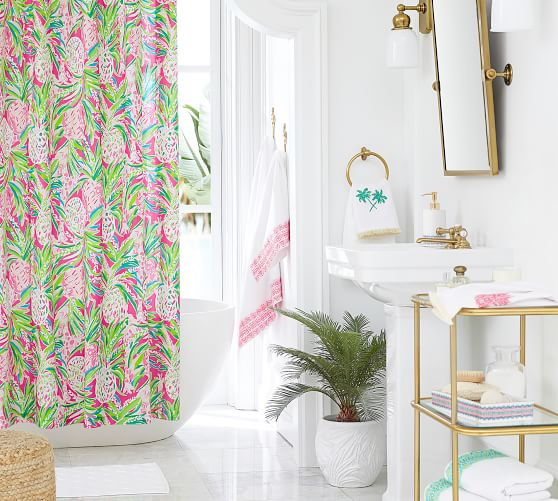 Lilly Pulitzer Alotta Colada Percale, Pottery Barn Lilly Pulitzer Curtains