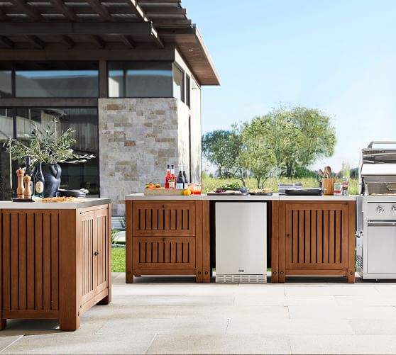 Build Your Own Abbott Outdoor Fsc Acacia Kitchen Brown Pottery Barn