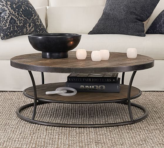 Bartlett 42 5 Round Reclaimed Wood, Round Reclaimed Wood Coffee Table