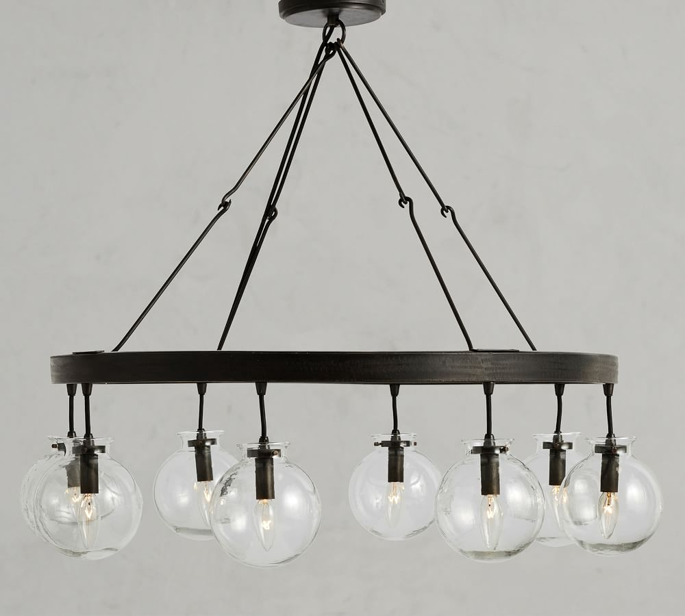 Barrett Recycled Glass Globe Chandelier, Replacement Light Globes Chandeliers