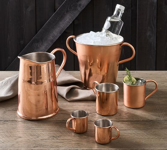 Vintage Handcrafted Copper Drinkware Collection