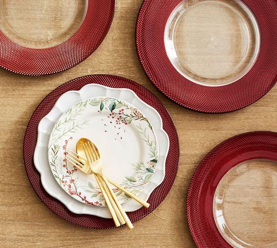 Monique Lhuillier Melrose Glass Charger Plate