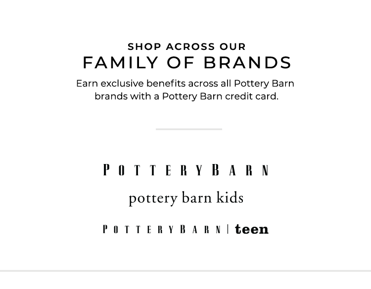 Pottery Barn Credit Card Pottery Barn