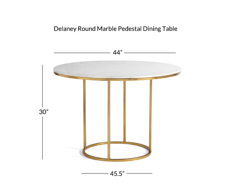 Delaney Round Marble Pedestal Dining Table Pottery Barn