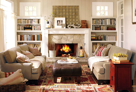 How To Choose A Wall Color In The, Pottery Barn Living Rooms