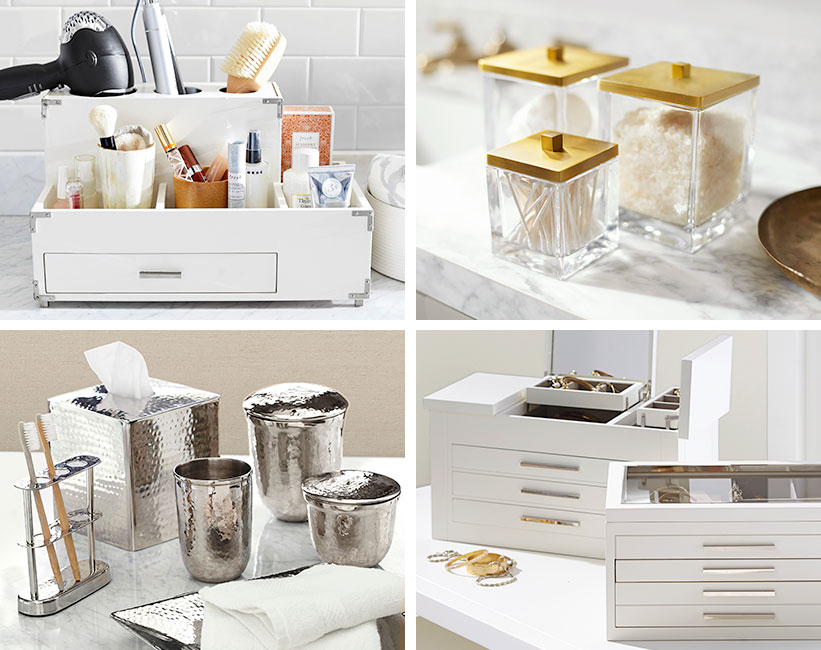 How To Decorate A Bathroom Sink Pottery Barn