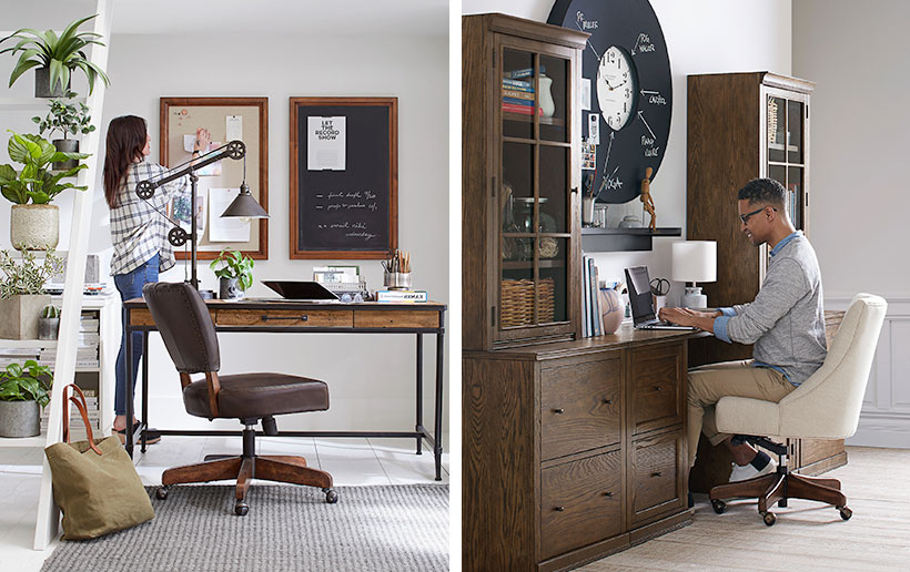 Choosing The Perfect Home Office Desk Pottery Barn