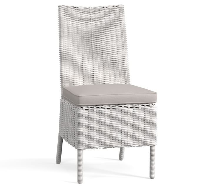 Torrey All Weather Wicker Dining Side Chair White Wash
