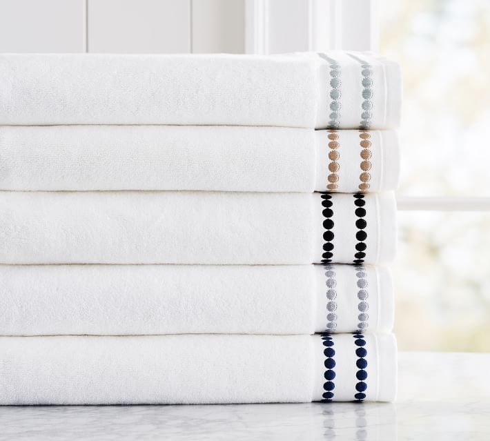 Pearl Organic Cotton Towels Pottery Barn