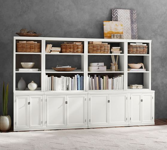 Logan Wall Bookcase With Doors