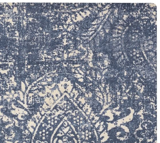 Shilah Easy Care Synthetic Rug Blue