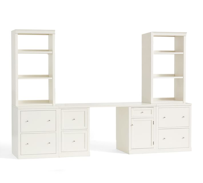 Logan Desk With Bookcase Suite Pottery Barn