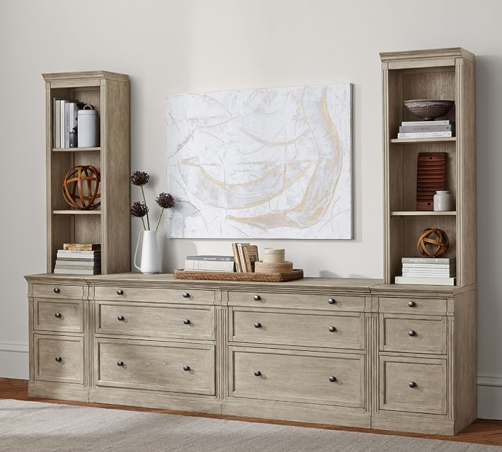 Livingston Bookcase Tower & Drawers   Pottery Barn