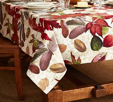 Windswept Leaves Tablecloth Pottery Barn