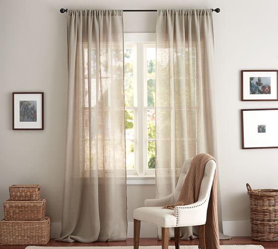 Linen Sheer Curtain Pottery Barn