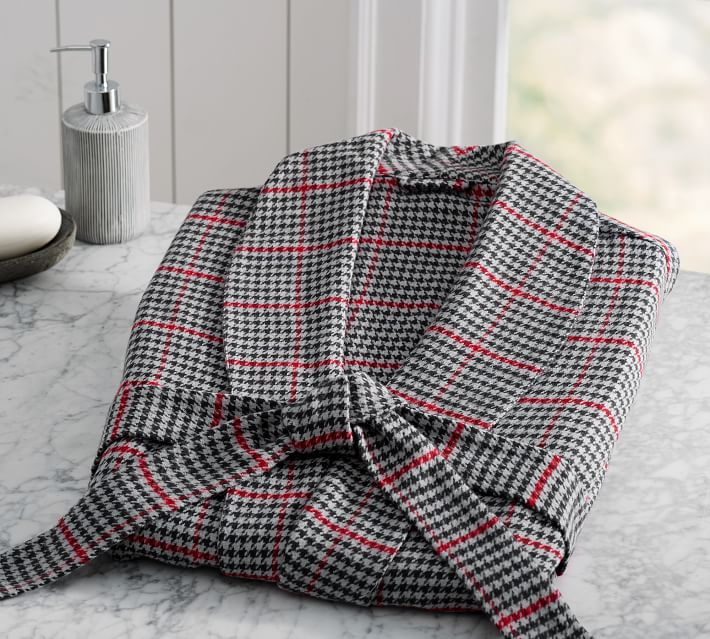 Randall Plaid Men S Robe Pottery Barn